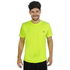 Camiseta Color Dry Workout SS CST-300 - Masculino - G - Amarelo Fluor - Muvin