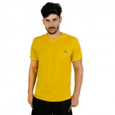 Camiseta Color Dry Workout SS CST-300 - Masculino - G - Amarelo - Muvin