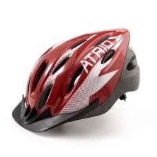 Capacete para Ciclismo MTB 2.0 Tam. G Viseira Removível e 19 Entradas de Ventilação Vermelho/Branco Atrio - BI163