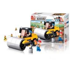 Blocos de Montar Construção Rolo Compressor 171 Peças Indicado para +6 Anos Material Plástico Colorido Multikids - BR828
