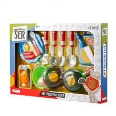 Kit Pequeno Chef Brincando de Ser com Acessórios Indicado para +3 Anos Multikids - BR954