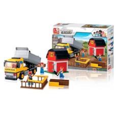 Blocos de Montar Construção Caminhão com Caçamba 384 Peças Indicado para +6 Anos Material Plástico Colorido Multikids - BR831