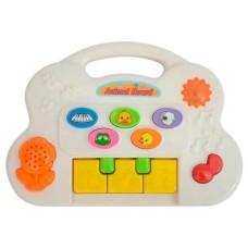 Piano Fazendinha Meu Primeiro Brinquedo Interativo Alimentação por 2 Pilhas AA Indicado para +6 Meses Multikids Baby - BR1024