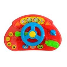 Painel de Veículo Divertido Meu Primeiro Brinquedo Interativo Alimentação por 2 Pilhas AA Indicado para +12 Meses Multikids Baby - BR1026