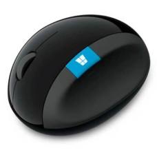 Mouse Ergonomic Sem Fio Usb Preto Microsoft - L6V00009
