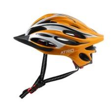 Capacete Atrio para Ciclismo inmold com LED Traseiro e Entradas de Ventilação Amarelo Tam. G - BI123