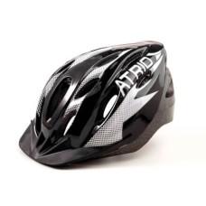 Capacete Atrio para Ciclismo MTB 2.0 Viseira Removível e 19 Entradas de Ventilação Preto/Branco Tam. M - BI158