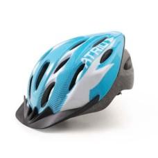 Capacete Atrio para Ciclismo MTB 2.0 Viseira Removível e 19 Entradas de Ventilação Azul/Branco Tam. M - BI160