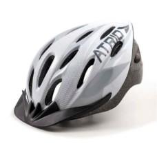 Capacete Atrio para Ciclismo MTB 2.0 Viseira Removível e 19 Entradas de Ventilação Branco/Cinza Tam. M - BI164