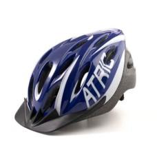 Capacete Atrio para Ciclismo MTB 2.0 com LED Traseiro 19 Entradas de Ventilação Azul/Branco Tam. M - BI166