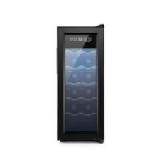 Adega Climatizada 220V com 65W Capacidade para 12 garrafas Display Digital e Luz de LED Interna Preto Multilaser - HO044