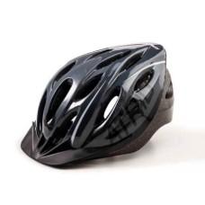 Capacete Atrio para Ciclismo MTB 2.0 com LED Traseiro 19 Entradas de Ventilação Cinza/Preto Tam. G - BI171