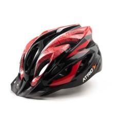 Capacete Atrio para Ciclismo MTB Inmold 2.0 Viseira Removível 19 Entradas de Ventilação Vermelho Tam. G - BI177
