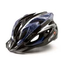 Capacete Atrio para Ciclismo MTB Inmold 2.0 Viseira Removível 19 Entradas de Ventilação Azul Tam. G - BI179