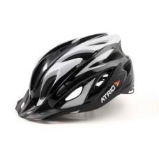 Capacete Atrio para Ciclismo MTB Inmold 2.0 Viseira Removível 19 Entradas de Ventilação Cinza Tam. G - BI181