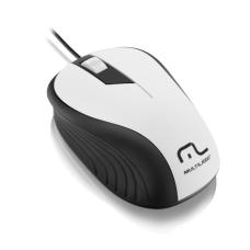 Multilaser Mouse Emborrachado Branco E Preto Multilaser - MO224