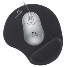 Mouse Pad Gel Preto Multilaser - AC024