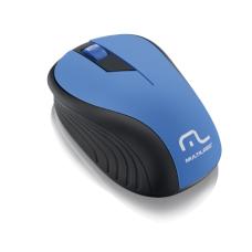Mouse sem Fio 2.4GHz 1200DPI Preto/Azul Multilaser - MO215