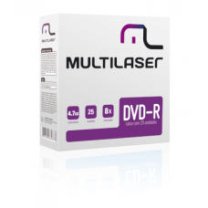 DVD-R 4.7GB c/ 25 unidades DV042 Multilaser