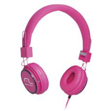 Headphone Head Fun com Microfone P2 3,5mm Hi-Fi Rosa Multilaser - PH088