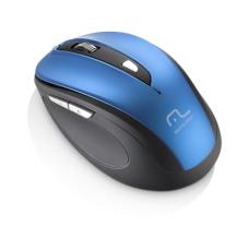 Mouse Sem Fio 1600Dpi USB 6 Botões Preto e Azul Multilaser - MO240