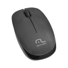 Mouse Sem Fio 2.4 Ghz 1200 Dpi USB Preto Multilaser - MO251