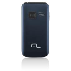Celular Flip Vita Câmera Rádio MP3 Lanterna Botão SOS Dual Chip Azul Multilaser - P9020