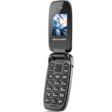 Celular Flip Up Câmera MP3 Dual Chip - Preto Multilaser - P9022
