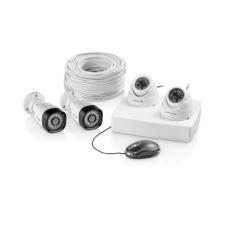 Kit De Segurança 2 Câmeras Bullet 2 Câmeras Dome 12 Led Branco Multilaser- Se118
