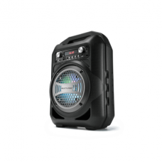 Caixa De Som Portátil 4 Polegadas Bluetooth/FM/SD/P2/USB Preta Multilaser- SP256