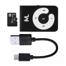 Kit Mp3 Player 80 Mah MicroSD 8GB e Cabo Micro Usb - MC300