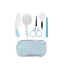 Kit Higiene Buba Cuidados para Bebê com Estojo Branco Azul