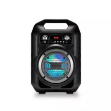 Caixa de Som 6 em 1 Bluetooth 50w RMS Karaokê Rádio FM Multilaser