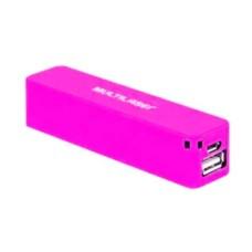 Carregador Multilaser Smartogo Power Bank 2200mah Rosa - CB078R