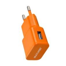 Carregador Multilaser de Parede/Tomada USB Laranja - CB080L