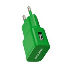 Carregador Multilaser de Parede/Tomada USB Verde - CB080V