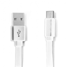 Cabo USB TIPO C Multilaser com 1 metro de comprimento Branco - WI365