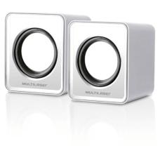 Caixa De Som 2.0 Mini 3w Rms Branco Multilaser - SP199