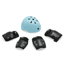 Kit de Proteção Infantil Preto/Azul – Capacete M / Kit P Atrio - ES182