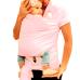 Carregador de Bebê Baby Wrap Sling - Rosa - Cuca Criativa
