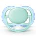 Par de Chupetas Ultra Air Lisa 0-6 Meses Menino Azul e Verde - Phillips AVENT SCF244/20