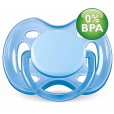 Chupeta Free Flow BPA Free 0-6 Meses Single Pack AZUL Phillips AVENT SCF178/13
