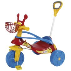 Triciclo Com Empurrador Smile Confort Elite Vermelho Biemme 498