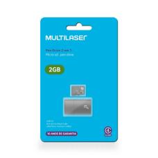 Leitor USB + Cartão De Memória Classe 4 2GB Multilaser - MC159