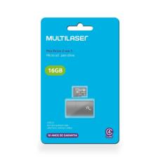 Leitor USB + Cartão De Memória Classe 4 16GB Multilaser - MC172