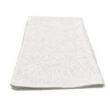 Toalha De Rosto Jacquard Luxo - Cor Branca 49x68 cm