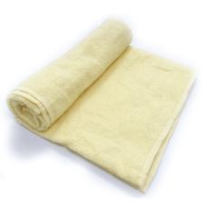Toalha De Banho Barra Cor Amarela 68cm X 1,28m