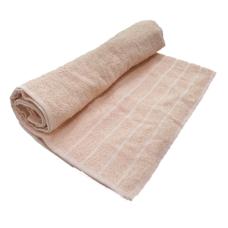 Toalha De Banho Barra Cor Rosa Claro 68cm X 1,28m