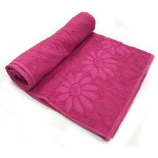 Toalha De Banho Luxo Cor Rosa 68cm X 1,36m
