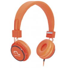 Multilaser Headphone Head Fun com Microfone P2 3,5mm Hi-Fi PH086 Laranja